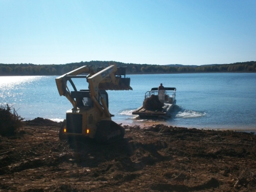 The U.S. Army Corps of Engineers worked with the AGFC and local anglers to place new habitat in Greers Ferry Lake.